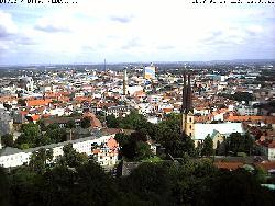 Blick in die Innenstadt von der Sparrenburg aus.