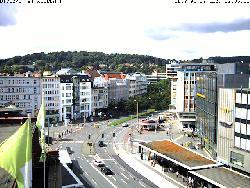 Blick auf den Jahnplatz.