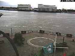 Blick über den Aussichtspunkt auf die andere Seite der Weser