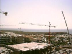 Blick auf die Baustellen der Großprojekte