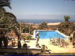Blick auf den Swimmingpool