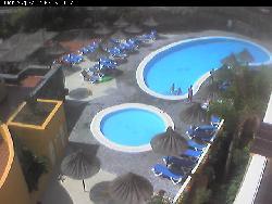Blick auf den Pool des Hotels El Marques Palace