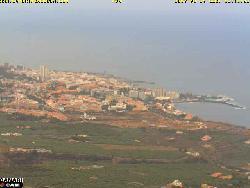Blick von La Orotava aus über das Orotavatal auf die Stadt.