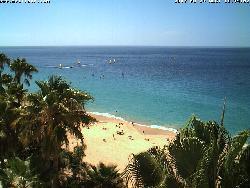 Blick auf den Strand aus dem Hotel Coronado.