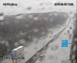 Die Autobahn auf der Höhe von Friedberg