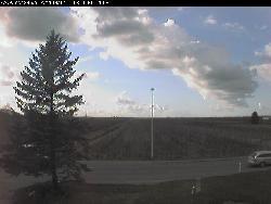 Ansicht in Richtung Westen über die Landschaft.
