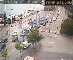 Verkehrskamera mit Ansicht des Stadsgardleden