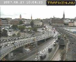 Blick einer Verkehrscam vom Norden auf die Stadt