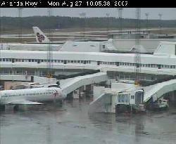 Blick auf ein Terminal