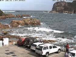 Kamera des Nationalen Instituts für Seerettung mit Blick auf das Meer
