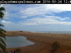 Blick über die Dünen Webcam von Playa de Maspalomas