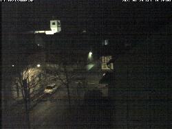 Blick vom Rathaus auf die Schweigelstraße und Kirche St. Martin