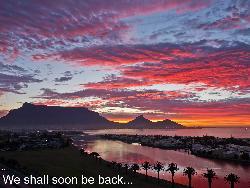 Blickrichtung Süd auf den Tafelberg