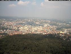 Ausblick vom Fernsehturm nach Norden auf die Stadt